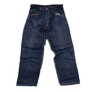 Mecca Apparel Jeans Men's 36 Blue Loose Baggy Dark